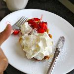 My favorite; liege waffle with strawberries and heavenly whipped cream!
