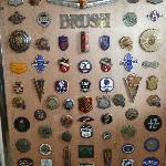 Part of extensive badge collection