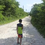 This is the road that leads to the beach.