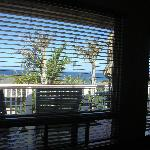 View from bed, Island View room