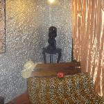 The sitting area in our room, complete with silver walls!