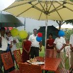 Outdoor birthday celebrated by the staffs of Tamara