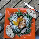 My wife's chicken salad that was very good!