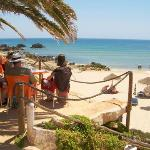 Cool down Praia da Ingrina Beach Raposeira Vila do Bispo Algarve