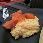 Marrbury Smoked salmon and scrambled eggs - made at The Orangerie cottage