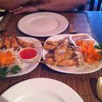 shrimp n chicken satay thai