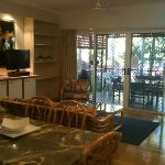 Apartment 26 - lounge room & deck area