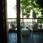 Salon und Balkon