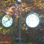 As you can see we were there duing the heat wave but the dial on the left was not the right time