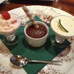 Trio of desserts - Yum Yum :)