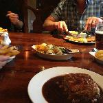 Steak Pie, Chips, Veg, Onion Rings - Even better than my mums :) x