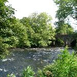 River Leny passing metres from beautiful Bridgend Cottage