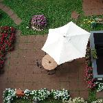 terrasse dans le jardin