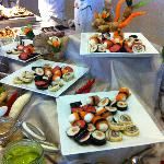 Sushi at dinner in buffet