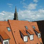 Ulm, Hotel Neuthor, view from window with Munster