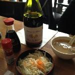 Wine and miso soup
