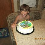 Ice cream cake for Landon from Dairy Queen. So good!