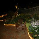 Garden lighted night view