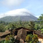 View of Arenal from pool