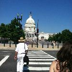 Walking with Rob to the Capitol