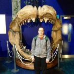 Me next to the Megalodon Jaws!