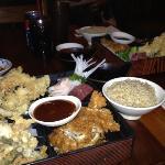 tempura and katsu combo plate