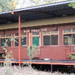 An old Red Rattler Sleeping Car Train carriage - Undara Lodge