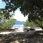 udsigt fra bungalow på strandfront