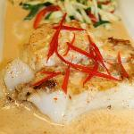 Seabass with Tai Curry Sauce