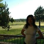 Morning at Balcony overlooking the golf course