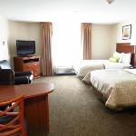 So sieht ein Zimmer mit zwei Queenssize Betten aus mit Aufpreis!!