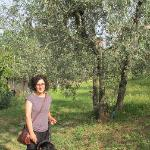 Beautiful, hospitable and friendly Laura with Rocco (I think) in the beautiful olive farm :)