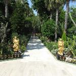 Golden statues in Botanik's garden
