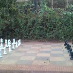 the rare life-size chessboard