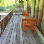 Room Deck facing the backwaters