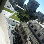View from the room, piazza below...