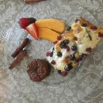 One of our AMAZING breakfasts. This was the sweet option......SOOO GOOD!!!! I can't wait for mor
