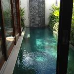 View of Plunge Pool from our Bedroom