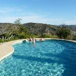 Zalig zicht vanuit het zwembad
