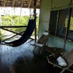 Terrace with hammock 'with a view'