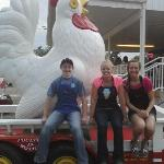 Poultry in Motion Stopped by for Ice Cream.