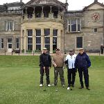 Getting ready to tee off on The Old Course