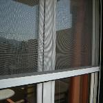 Pull down screens on all windows/balcony doors