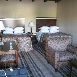 large beds with lots of pillows