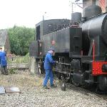 bijvullen locomotief voor de terugreis