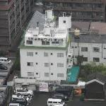 Foto desde arriba del hotel.