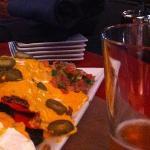 massive portion of nachos!!