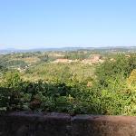 View from breakfast garden
