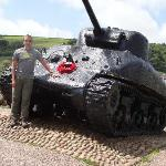 Sherman tank memorial at Slapton Sands