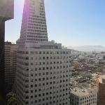 Transamerica building from the room